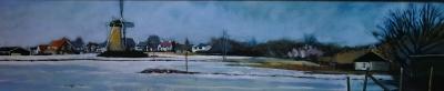 molen rijsoord in de sneeuw